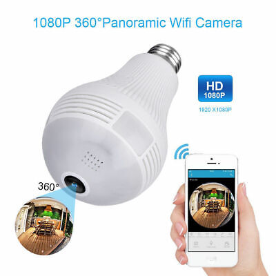 Mini 1080P WIFI HD SPY Hidden Camera Light Bulb DVR Motion Detection Nanny Cam