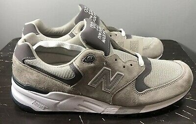 c09d4cc0a2fd6 Men's New Balance 999 Made In USA Grey Pewter White Running Shoes Sz 12  M999CGL