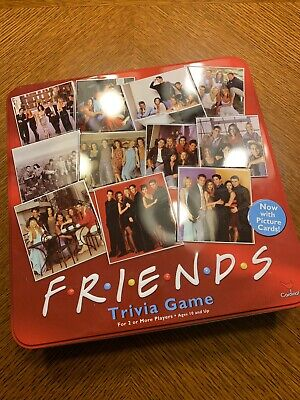 FRIENDS Tv Show Trivia Game Red Collecter Tin 2002 Cardinal COMPLETE SHIPS FAST