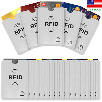 20pcs Anti Scan RFID Blocking Sleeve Cover Credit Card ID Card Protector Blocker