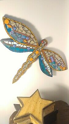 Mosaic mirror Dragonfly wall art insect unique wall art