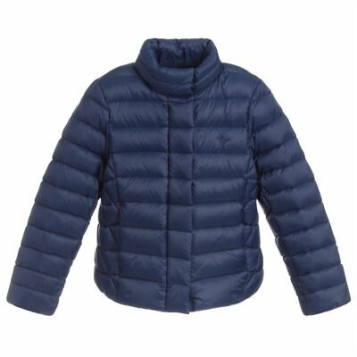 RALPH LAUREN girls DOWN Hooded Puffa JACKET 6Y Navy BNWT