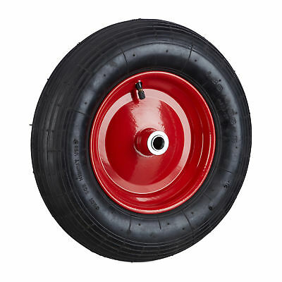 Wheelbarrow Wheel 4.80 4.00-8, Pneumatic, Inflatable with Rim, Rubber Spare Tyre