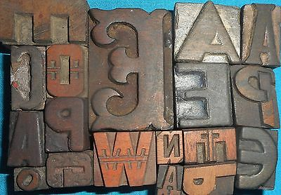 Mix 9 Letterpress Letter Wood Type Printers Block Collection.vb-456 Reasonable Price Business & Industrial