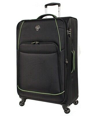 Tosca Sky High 29in Large Suitcase Black/Lime