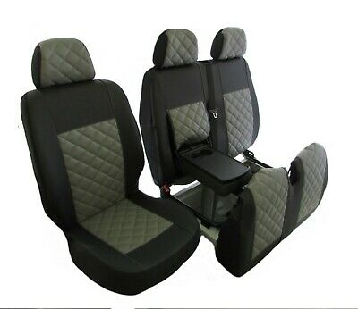 PEUGEOT BOXER,CITROEN RELAY,FIAT DUCATO2006-2018 RHD GRE LEATHER Seat Covers 2+1
