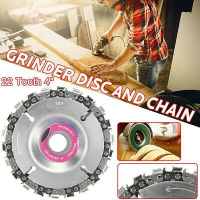 4 Inch Grinder Disc T22 Tooth Fine Chain Saw Angle Carving Culpting Wood Plastic