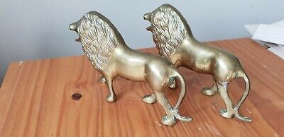 Solid Antique Brass Lions