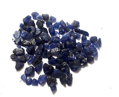 80 Cts Earth Mined Beautiful Natural Blue Burma Sapphire Rough Gemstone Lot
