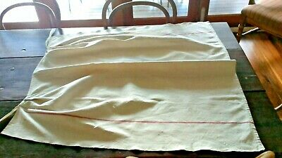 Antique monogrammed handsewn French metis apron