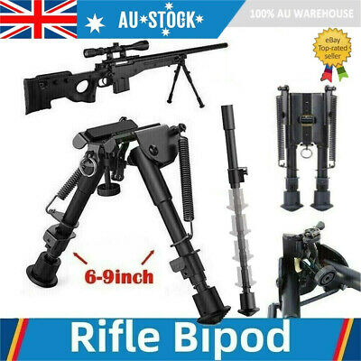 "Adjustable 6"" to 9"" Height Sniper Hunting Rifle Bipod Sling Swivel Mount Stand"