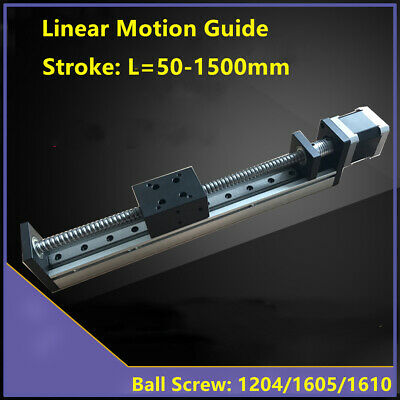 CNC Linear Guide Rail Stage Actuator Ball Screw Slide Table Stepper Motor