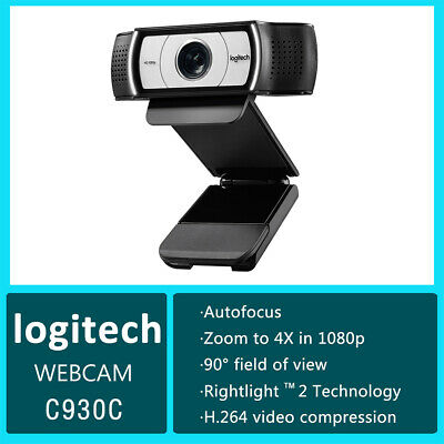 Logitech C930c USB Laptop Webcam 1080p Full HD Web Camera Microphone Skype Mac