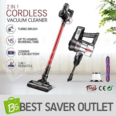 Cordless Stick Vacuum Cleaner Handheld Handstick Vac Bagless With 2-Speed AU