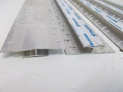 5x Metal Twin Grip Stikatak Carpet To Carpet Cover Strip Silver 900mm x 50mm