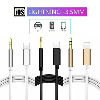 3.5mm AUX Lightning to Car Audio Jack For iPhone 7 8 X XS XR Male Cable Adapter