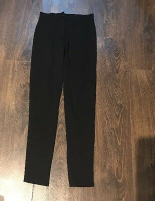 Girls Smart Black Straight Leg Trousers Age 10-11 Yrs