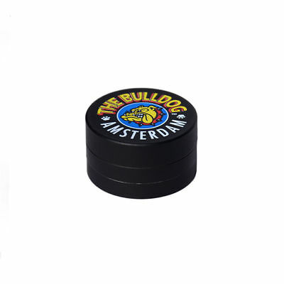 Grinder Per Tabacco Originale The Bulldog In Metallo Nero 3 Parti Tritatabacco