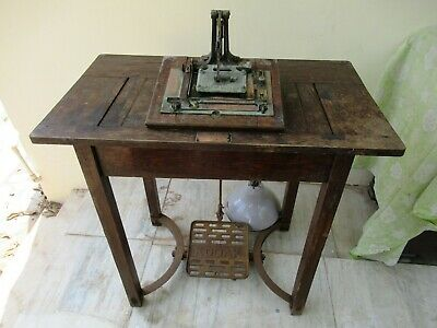 """Antique Kodak Printer Table London Made In Great Britain Wooden Collectibles """"F"""