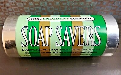 AVON Vintage 1973 Lifesavers SPEARMINT Scented 6 Soap Savers Tube Roll NIB