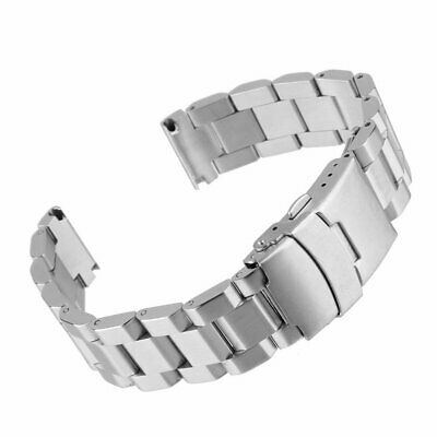 Heavy Solid Stainless Steel Dive Watch Band Bracelet Strap Double Buckle