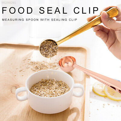 3A9D Multifunction Stainless Steel Clip Food Sealing Clip Measuring Spoon