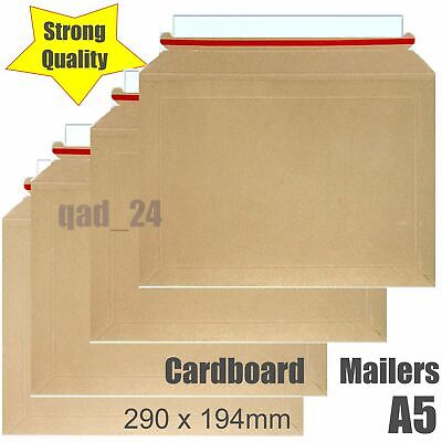 100x Cardboard Envelopes Mailers 290x194 CD Royal Mail A4 Large Letter Postal