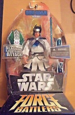 "Star Wars Force Battlers ARMORED Obi-Wan Kenobi 6"" Action Figure Ninja 2005"