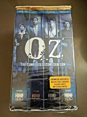 Oz The Complete Second Season HBO Series VHS 4-Tape Set Boxed Set Sealed