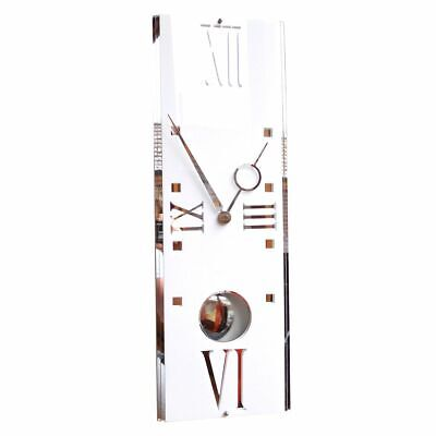 Gloss Modern Deco Vintage Pendulum Wall Clock Gloss White