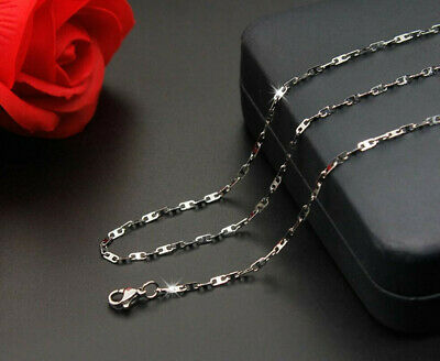 2mm/3.2mm 316L Stainless Steel Silver Color Necklace Chain 45-60cm Length