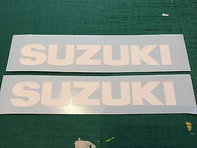 Suzuki 300mm Belly Pan Fairing White Decal Sticker GSXR 750 1000 MotoGP