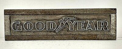 Goodyear 1954 Printers Watermark Metal Die Block