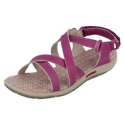Girls Merrell Leather Hook And Loop Fastening Sandals Jazmin
