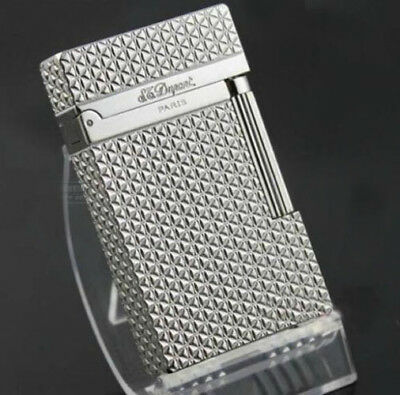 NEW S.T Memorial Dupont lighter Bright Sound! Silver lighter 44#
