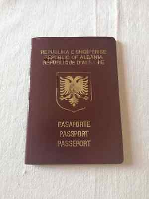 Vintag Albanian Democratic Travel Document Uncirculated with Stamp First Edition