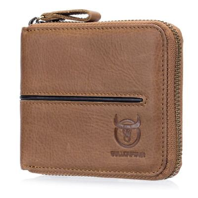 BULLCAPTAIN Leisure Genuine Leather Men Wallets Credit Business Card Holder G3O9