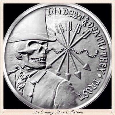 SBSS 1oz 2012 Debt and Death Wide Reed King Strike  .999 Silver Half Proof Coin
