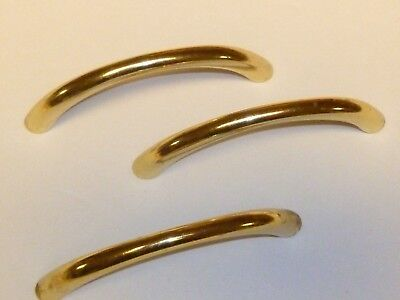 Set of 14 CURVED GOLD CABINET HANDLES