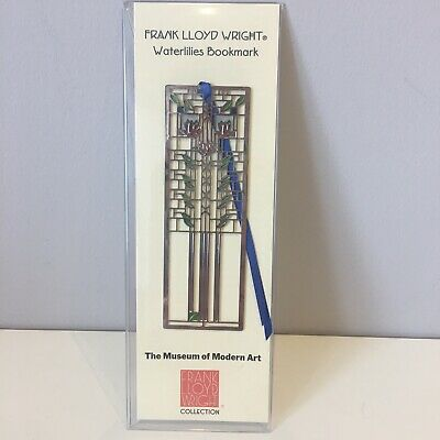 Museum of Modern Art Frank Lloyd Wright Waterlilies Metal Bookmark Stained Glass