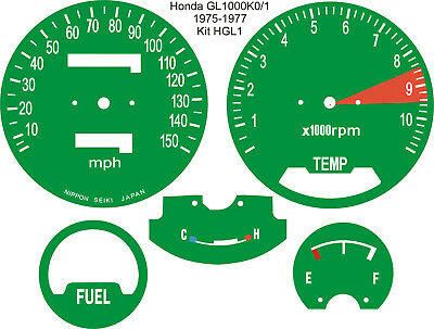 Honda Gl1000 Gold Wing Speedo Tach Rev Counter Dial Face Overlays