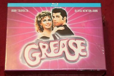 GREASE -- Coleccionista PELICULA + POSTER + CAMISA + POSTALES -  BLURAY blu ray