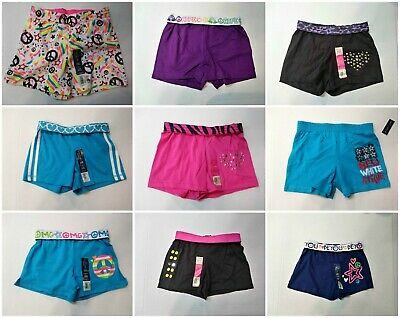 Girls Shorts Cotton, Cotton Blend Knit Assorted Graphic, Studded, Fold-over 6-6X