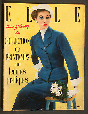 'elle' French Vintage Magazine Spring Collections Issue 10 March 1952