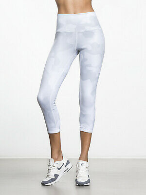 4f3d903d464c2d ALO Yoga White Gray High-Waist Airbrush Camouflage Capri Leggings Size S
