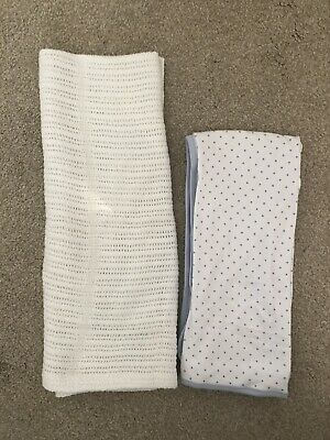 Baby Cellular Blanket Bundle X2