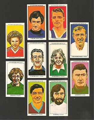 NORTHERN IRELAND NATIONAL FOOTBALL TEAM PLAYERS 10 cards Green and White Army