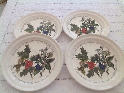 "Portmeirion The Holly and & The Ivy 10.5"" Dinner Plates x 4 (New)"