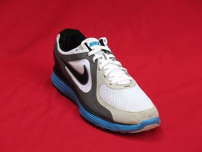 sneakers for cheap 76ad3 0c599 Nike Lunar Swift Men Silver, Blue   White Fabric Walking Sneakers Size ...