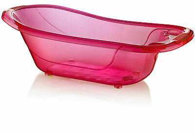 50 Litre Large Plastic Baby Bath - Pink Aqua Baby Tub - Kids - Infant